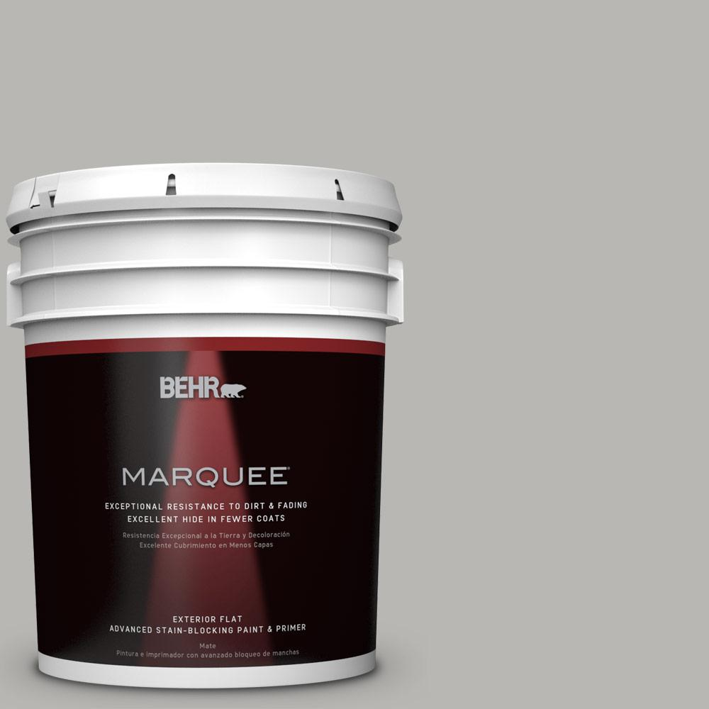 BEHR MARQUEE Home Decorators Collection 5-gal. #HDC-MD-26 Sonic Silver Flat Exterior Paint