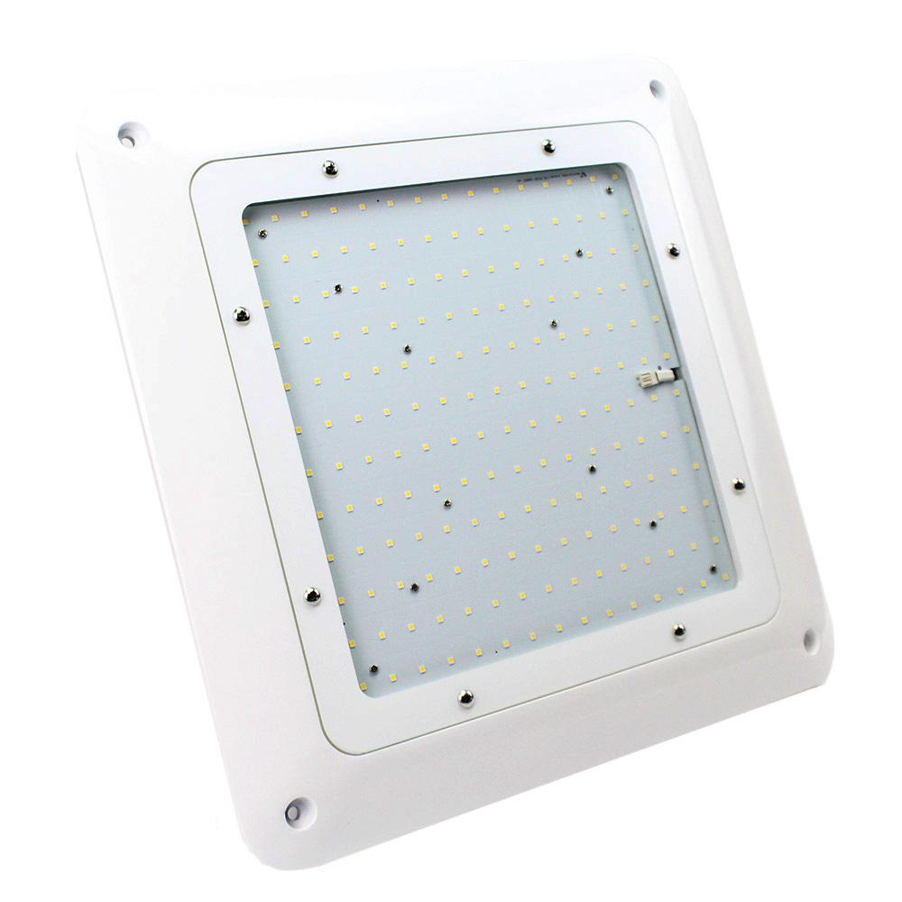 150-Watt White Integrated LED Flushmount Canopy Light