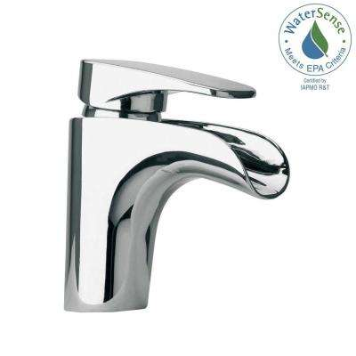 Novello Single Hole Single-Handle Low-Arc Waterfall Bathroom Faucet in Chrome