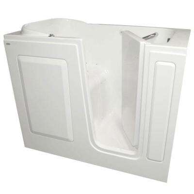 Gelcoat 48 in. x 28 in. Right Hand Quick Drain Walk-In Air Bath Tub in White