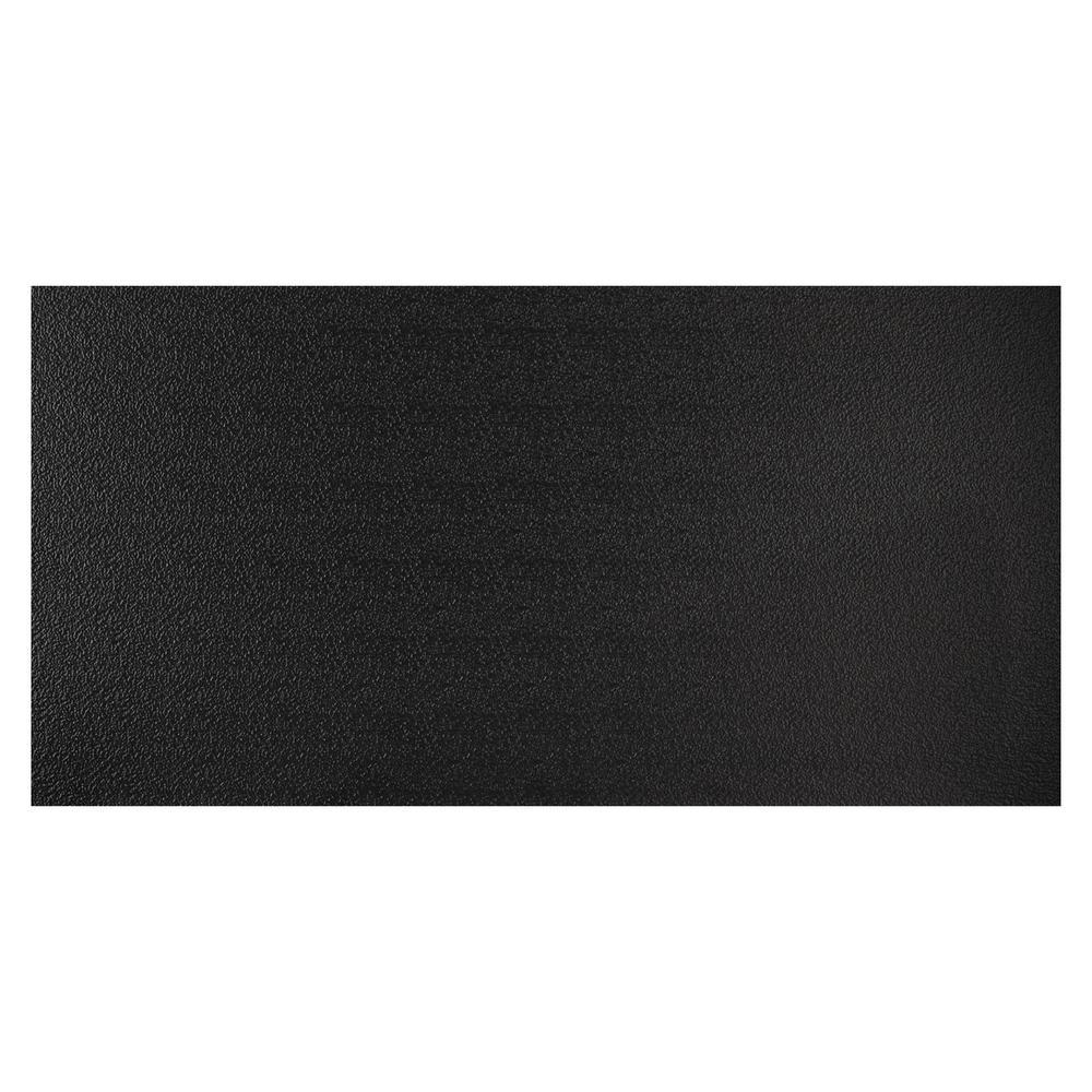 23.75in. X 47.75in. Stucco Pro Vinyl Lay In Black Ceiling Tile (Case of 12)