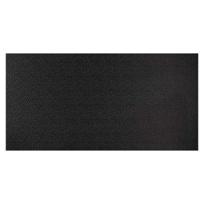23.75in. X 47.75in. Stucco Pro Vinyl Lay In Black Ceiling Tile (Case of 12)