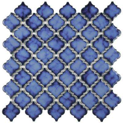 Hudson Tangier Sapphire 12-3/8 in. x 12-1/2 in. x 5 mm Porcelain Mosaic Tile