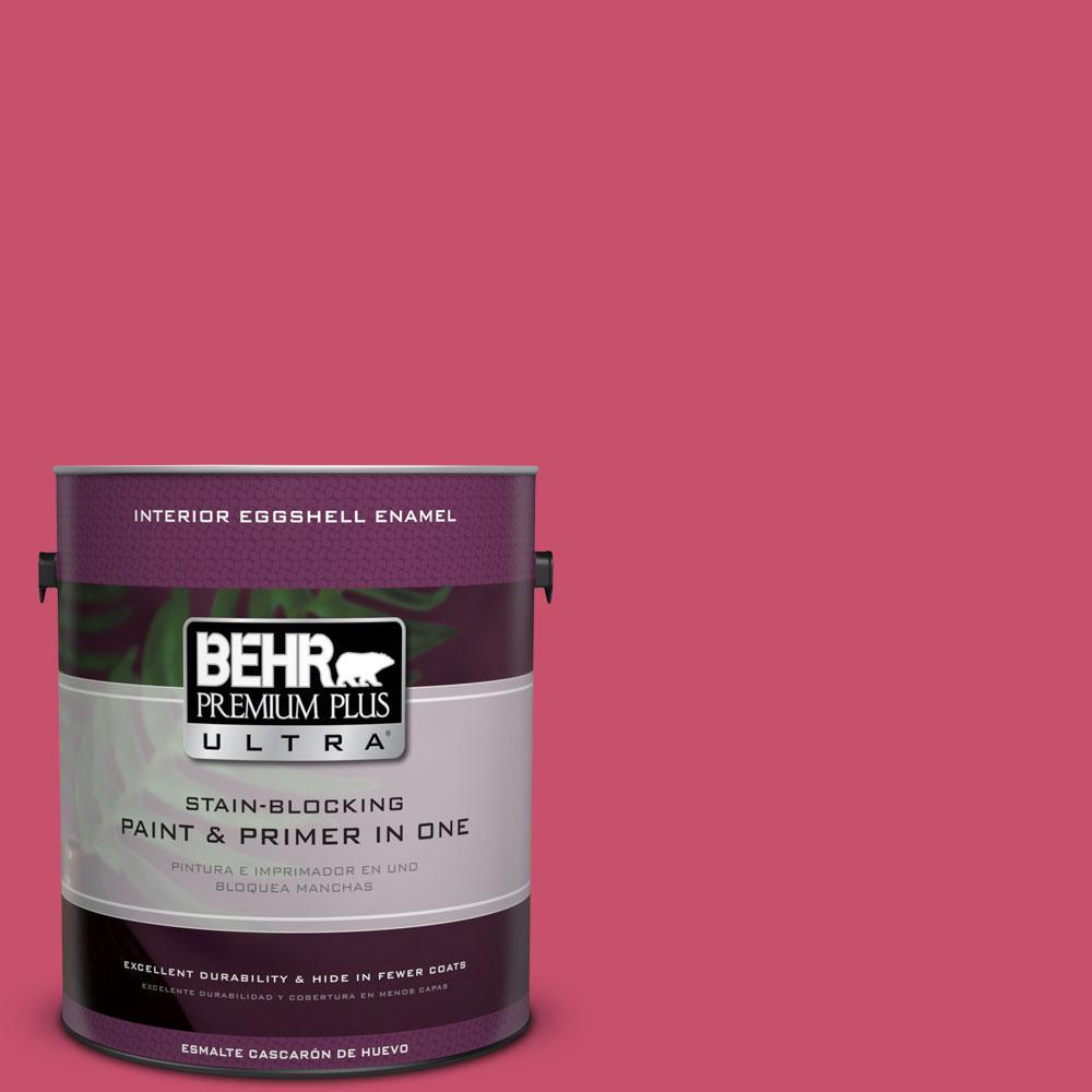 BEHR Premium Plus Ultra 1-gal. #120B-7 Tropical Smoothie Eggshell Enamel Interior Paint