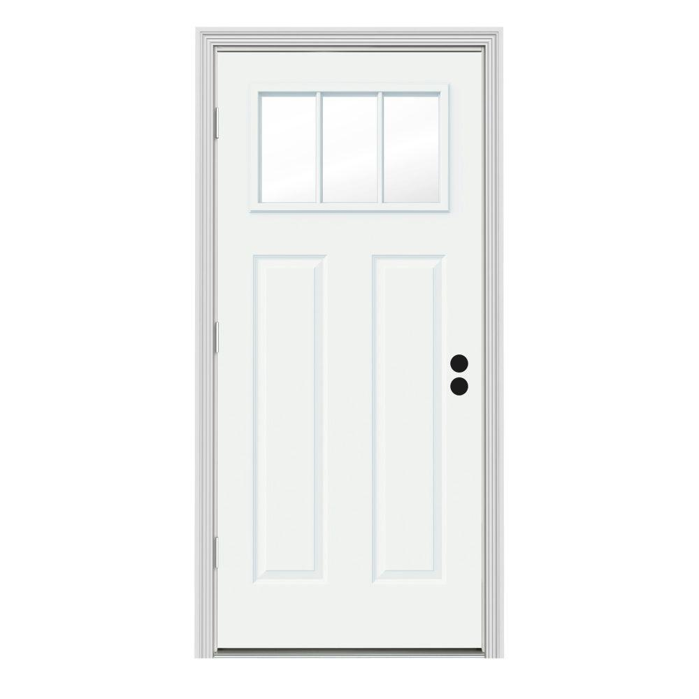 Jeld Wen Doors : Jeld wen in lite craftsman white painted