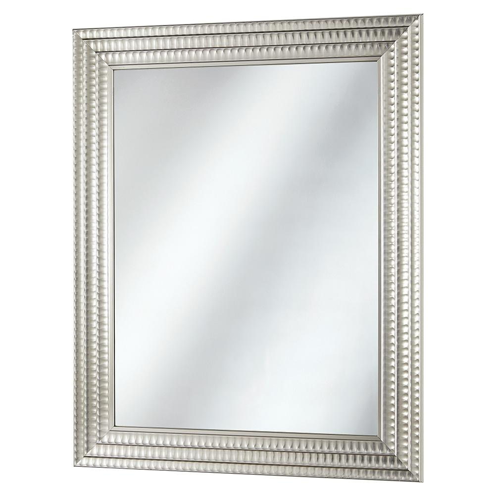 Home Decorators Collection 22 in. x 27 in. Framed Fog Free Wall Mirror in Silver