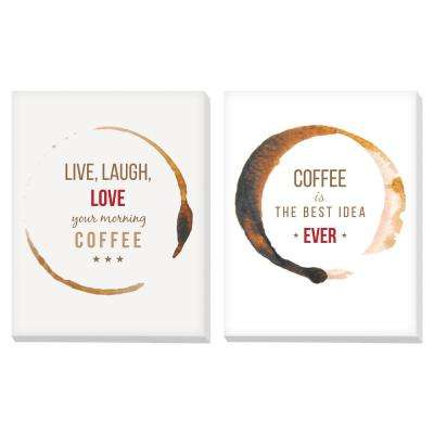 "11 in. x 14 in. ""Coffee"" Printed Canvas Wall Art"
