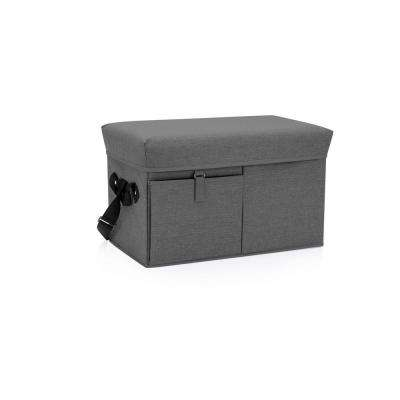 18 Qt. Grey Ottoman Cooler and Seat