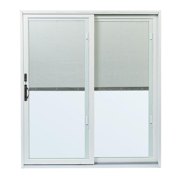 70-1/2 in. x 79-1/2 in. 200 Series Right-Hand Perma-Shield Gliding Patio Door with Built-In Blinds and ORB Hardware