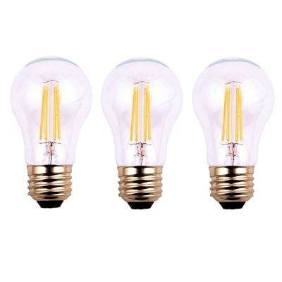 40-Watt Equivalent A19 Dimmable Clear Filament Vintage Style LED Light Bulb, Soft White (3-Pack)