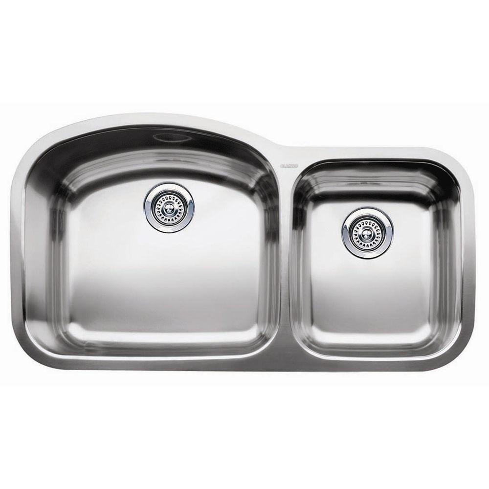 Blanco Wave Undermount Stainless Steel    Bowl Kitchen Sink