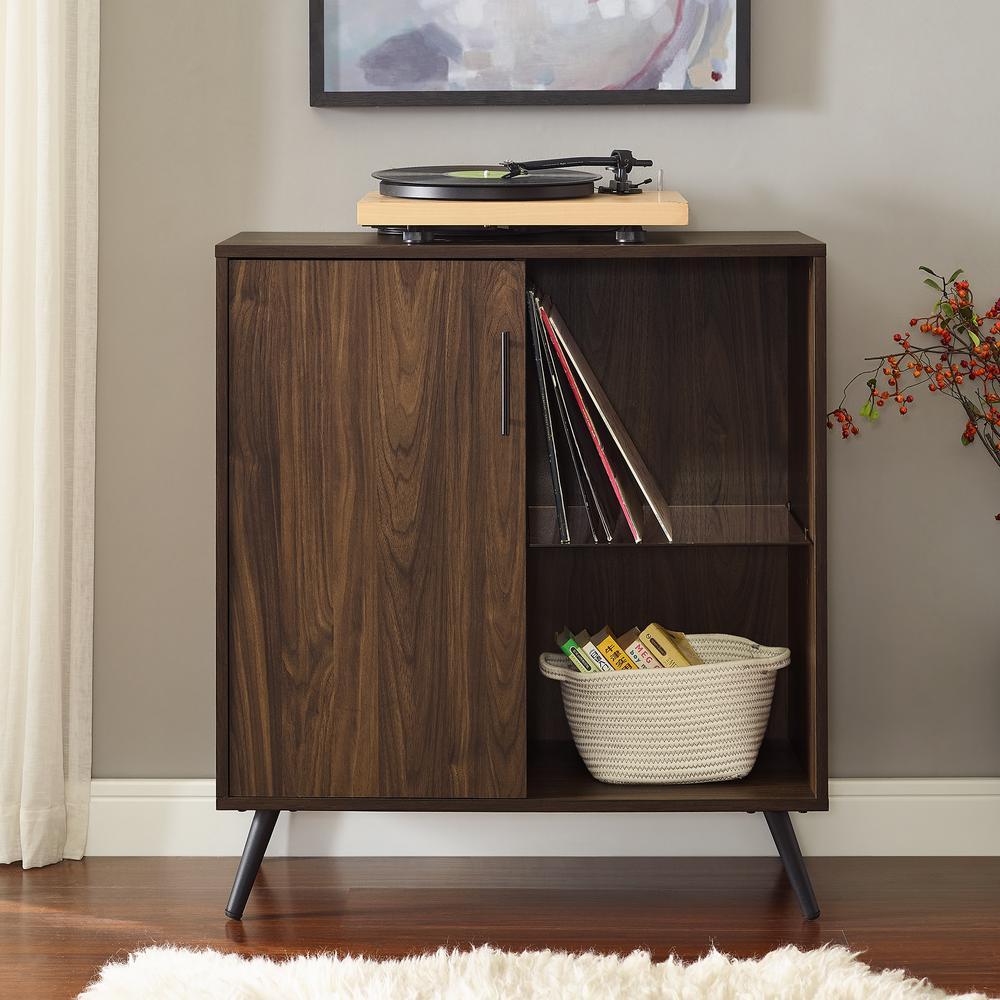 Dark Walnut Kitchen Cabinets: Walker Edison Furniture Company 30 In. Dark Walnut 1-Door