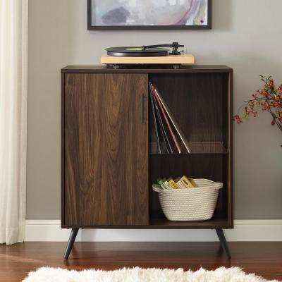 30 in. Dark Walnut 1-Door Accent Cabinet