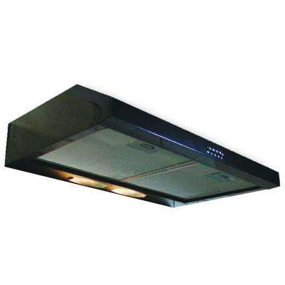 Builder Series 30 in. Convertible Range Hood in Black