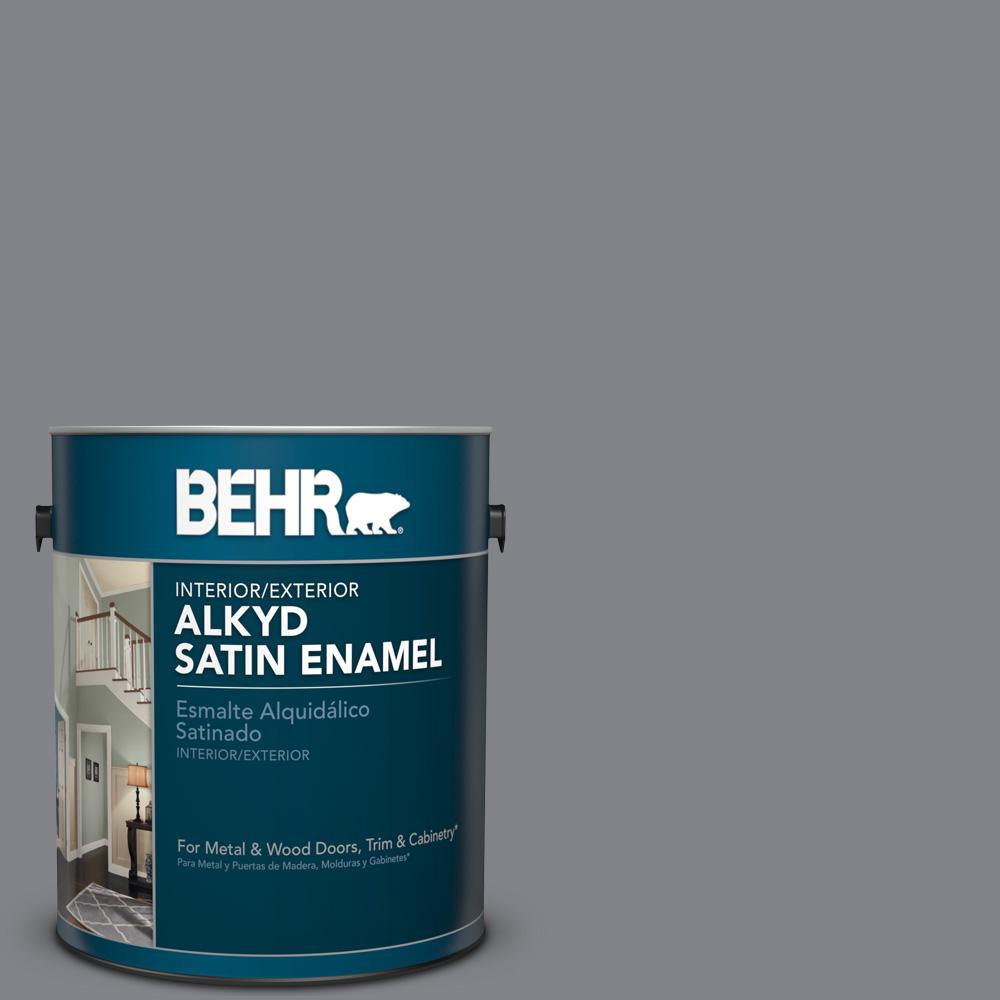 1 gal. #AE-52 Rising Smoke Satin Enamel Alkyd Interior/Exterior Paint