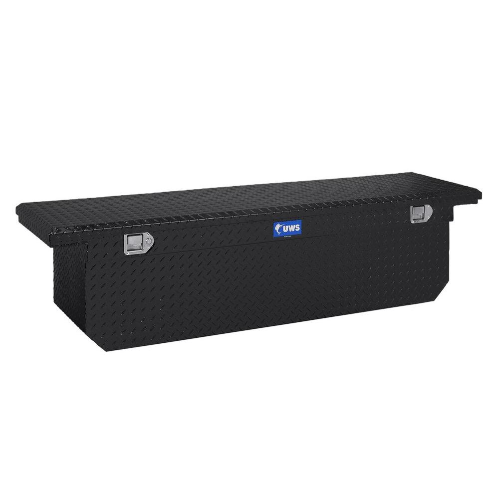 69 in. Aluminum Black Single Lid Crossover Tool Box with Deep
