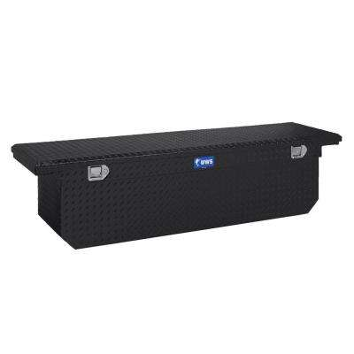 69 in. Aluminum Black Single Lid Crossover Tool Box with Deep Low Profile