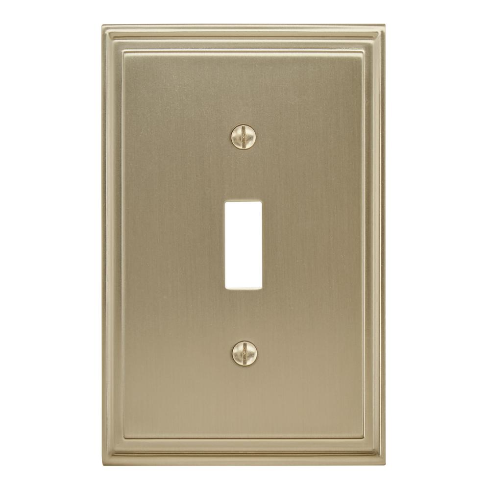 Amerock Gold 1 Gang Toggle Wall Plate 1 Pack Bp36514bbz The Home Depot