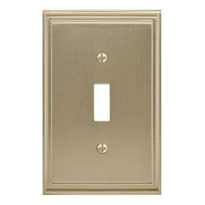 Gold 1-Gang Toggle Wall Plate (1-Pack)