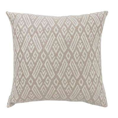 Cici 18 in. Beige Contemporary Standards Throw Pillow (Set of 2)