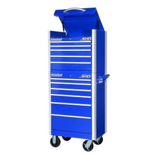 International SHD Series 27 inch 11-Drawer Tool Chest and Cabinet Combo in Blue by International