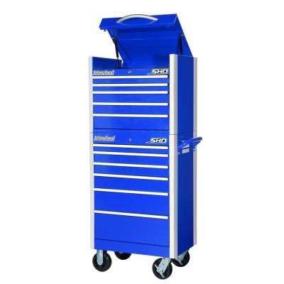 SHD Series 27 in. 11-Drawer Tool Chest and Cabinet Combo in Blue