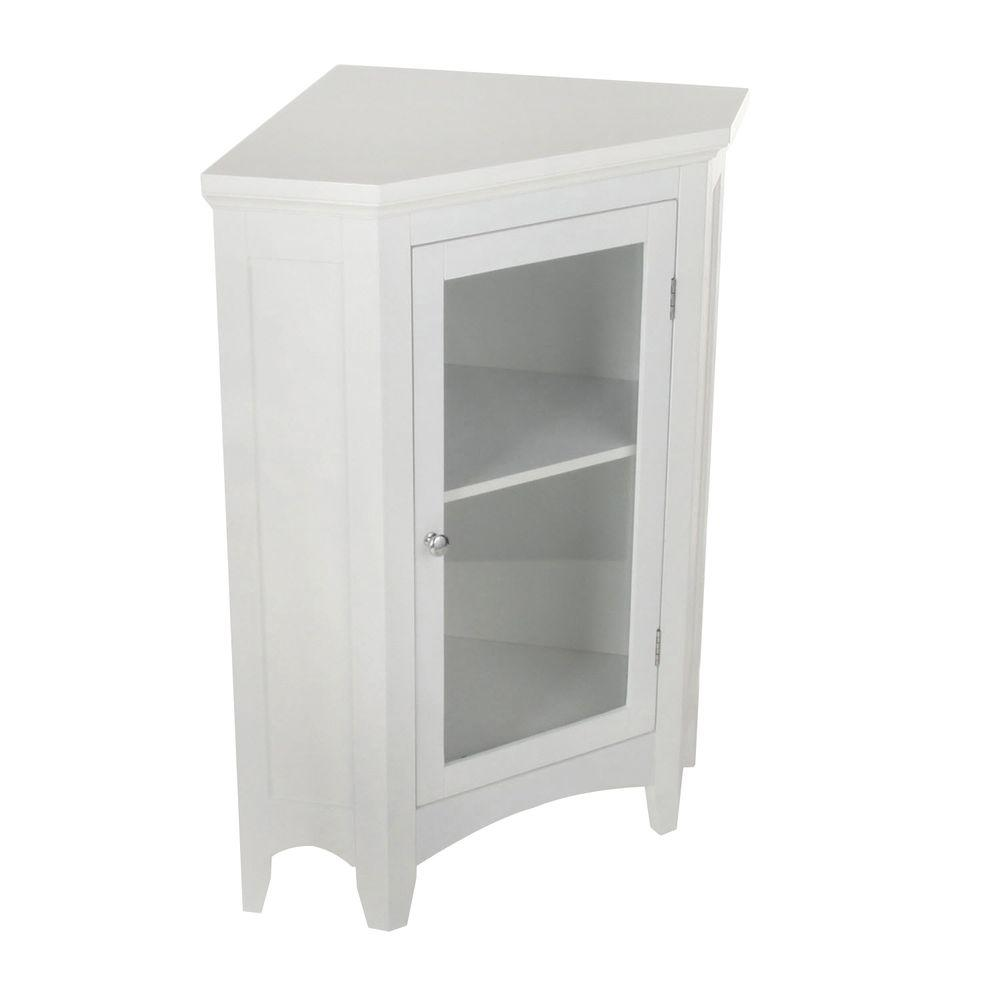 Elegant home fashions wilshire 27 7 8 in w x 32 in h x for Floor standing corner bathroom cabinet