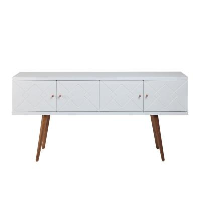Trinity 59.84 in. White Mid-Century Modern Sideboard