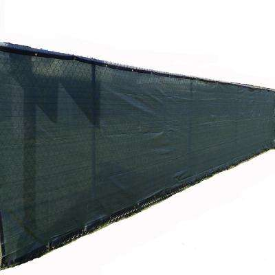 72 in. H x 300 in. W Polyethylene Green Privacy / Wind Screen Garden Fence