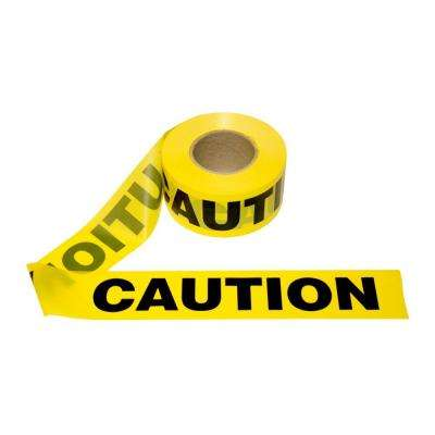 3 in. x 1000 ft. Yellow Caution Barricade Tape