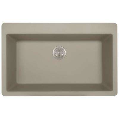Drop-in Composite Granite 33 in. Single Bowl Kitchen Sink