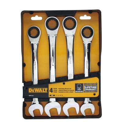 Metric Ratcheting Combination Wrench Set (4-Piece)