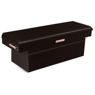 71.5 in. Aluminum Extra Deep Saddle Box in Black