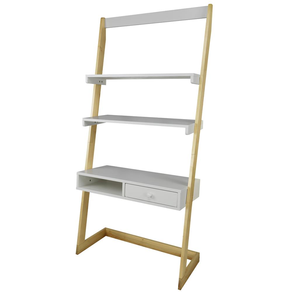 American Trails 2-Tone Natural Maple, White Freestanding Ladder Desk ...