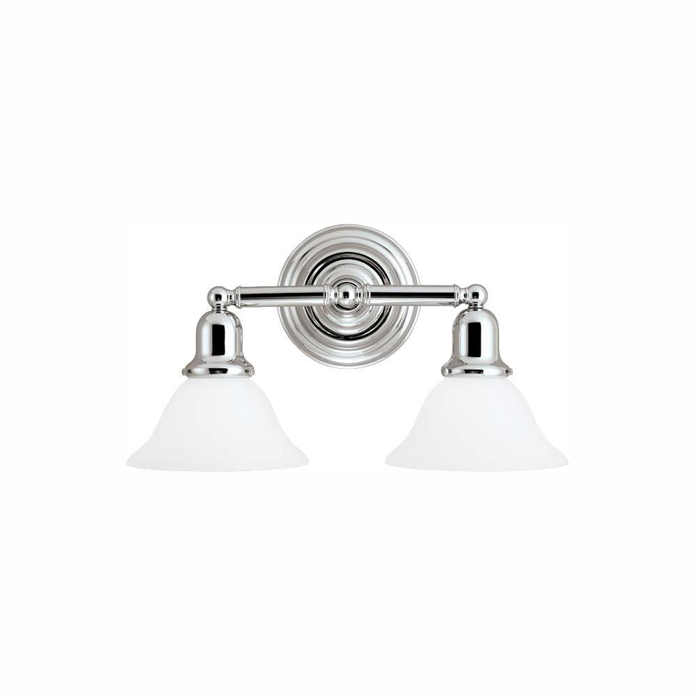 Sussex 2-Light Chrome Bath Light with LED Bulbs