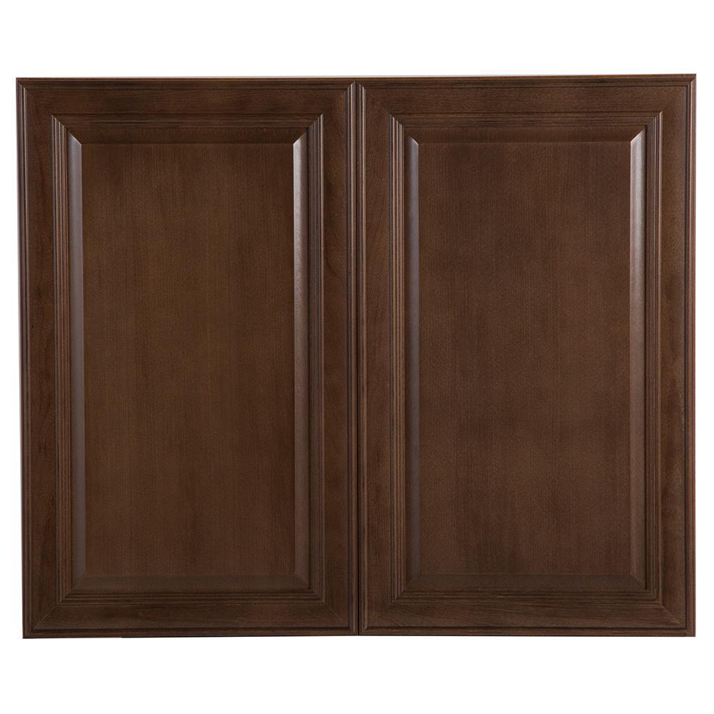 Hampton Bay Benton Assembled 36x30x12.62 in. Wall Cabinet in ...