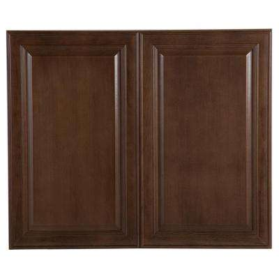 Benton Assembled 36x30x12.62 in. Wall Cabinet in Butterscotch