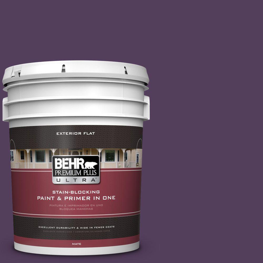 BEHR Premium Plus Ultra 5-gal. #S-H-670 Plum Flat Exterior Paint