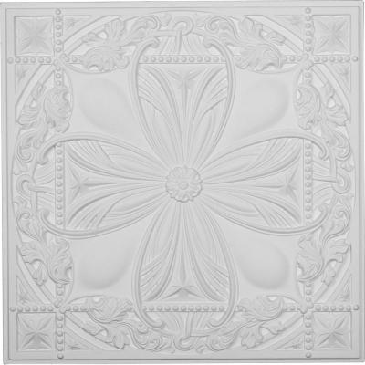 Cole 2 ft. x 2 ft. Glue Up Polyurethane Ceiling Tile in White