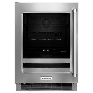 Click here to buy KitchenAid 24 inch W 4.8 cu. ft. Dual Zone 14-Bottle Wine Cooler by KitchenAid.