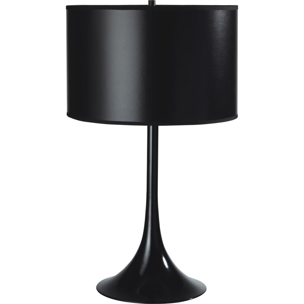 Ore International 25 In Modern Black Metal Table Lamp 6271bk The