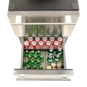 Haier 5.4 cu. ft. Undercounter Dual Drawer Refrigerator in Stainless on