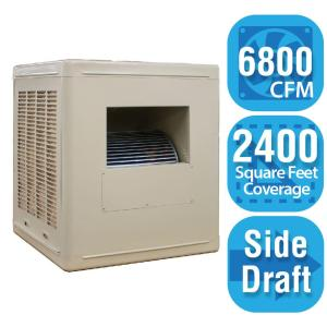 cfm sidedraft aspen roofside evaporative cooler for 20 in ducts