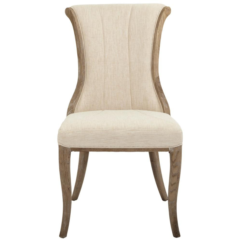Jacques Natural Linen Flared Back Side Chair (Set of 2)