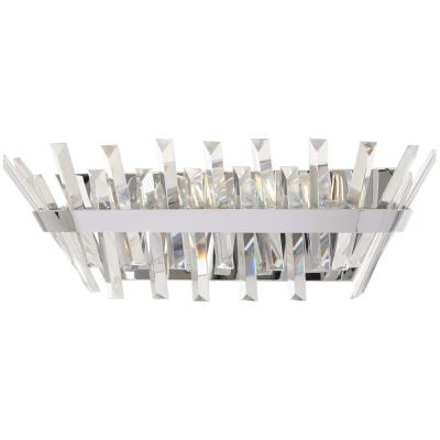 Echo Radiance 4-Light Chrome Bath Light with Clear Glass