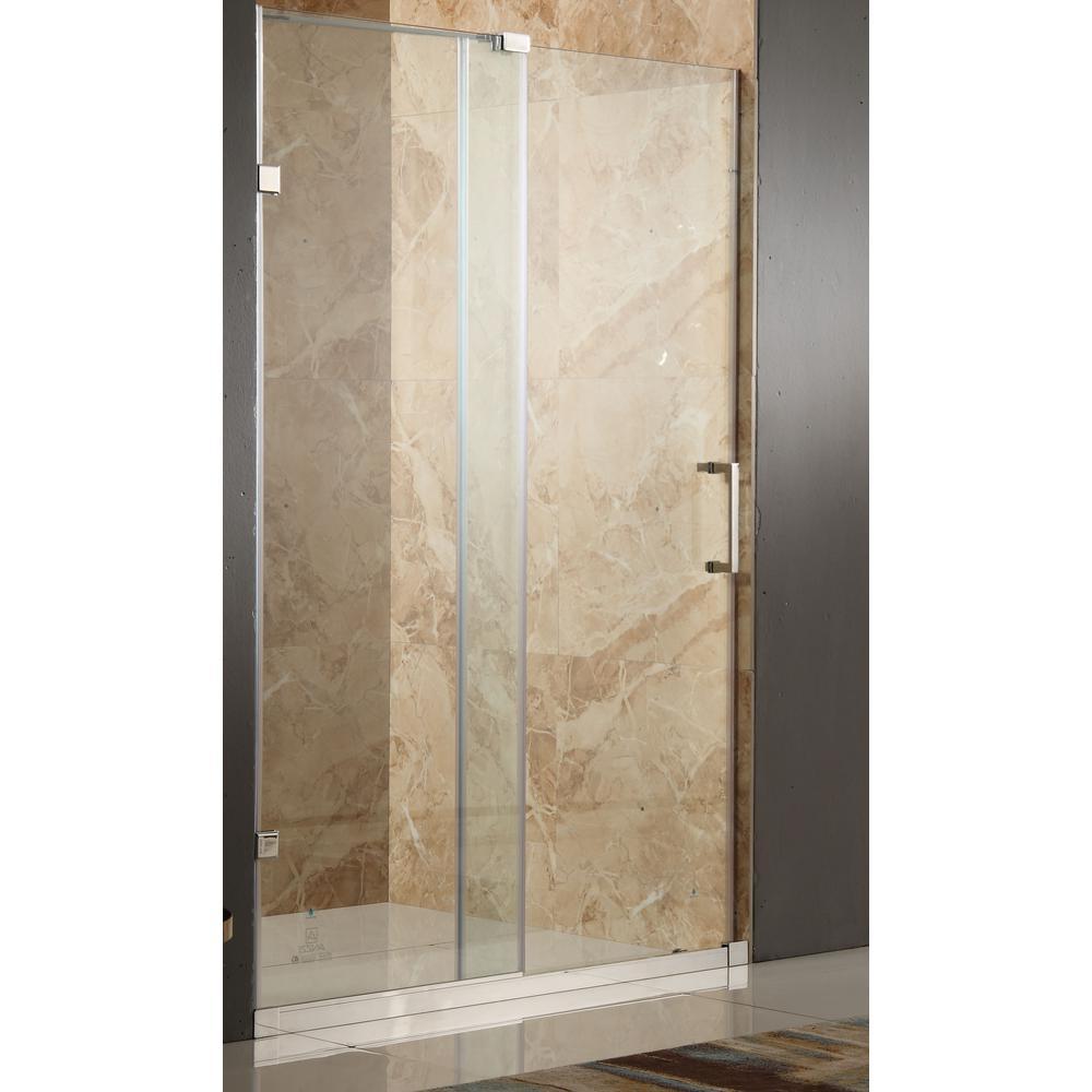 Anzzi Chief 48 In X 72 In Frameless Sliding Shower Door In