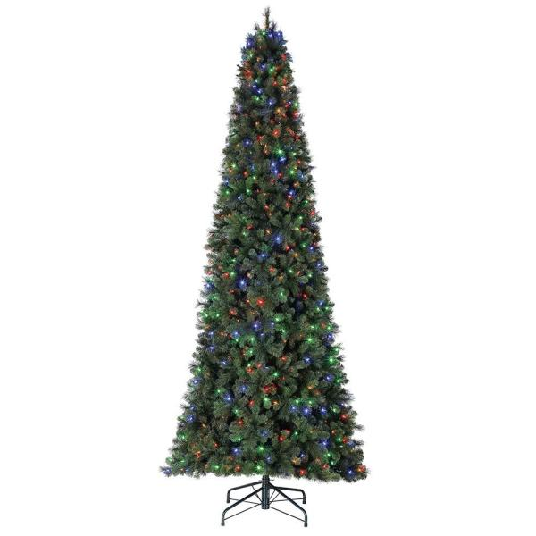 Cashmere 7 ft. Cascade Quick Set Christmas Tree and Changing Lights