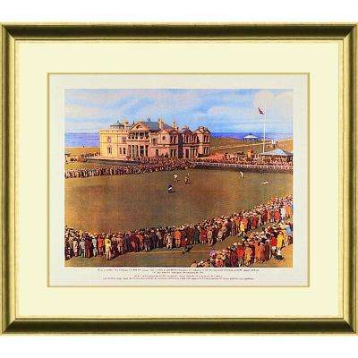 26.in x 23.5.in''Jones at St. Andrews'' By PTM Images Framed Printed Wall Art