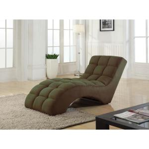 Coffee Tufted Chaise Lounge Chair SH013 - The Home Depot