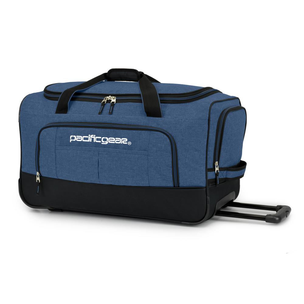 Keystone 25 in. Rolling Navy Duffel Bag